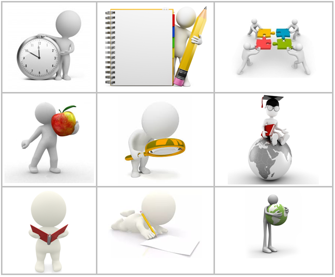 Картинки человечки для презентаций обучение грамоте